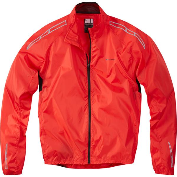 Madison Pac-it men/'s showerproof jacket flame red medium